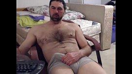 Volume de macho peludão se exibindo na webcam